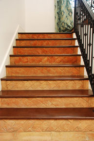TerraCotta tile stair case AncientFloors.com