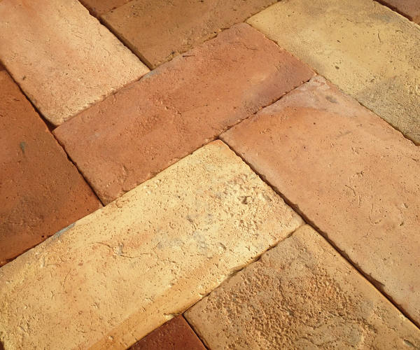Reclaimed Antique French Terra Cotta Tile Flooring Floor JPG