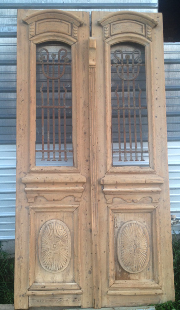 Reclaimed French Doors - AncientFloors.com Hardwood Flooring: Wrought Iron Doors.