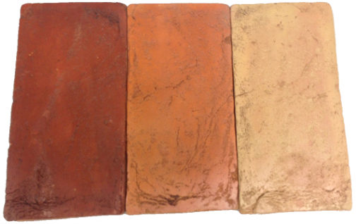 Antique Mahogany Tuscan Gold Florentine Terracotta Tiles colors