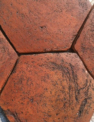 Italian Terra Cotta tiles hexagons brown